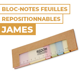 bloc notes feuilles repositionnables james
