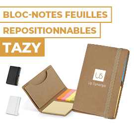 bloc notes feuilles repositionnables tazy